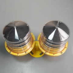 Dual Solar Powered Aviation Obstacle Light For Tower Building
