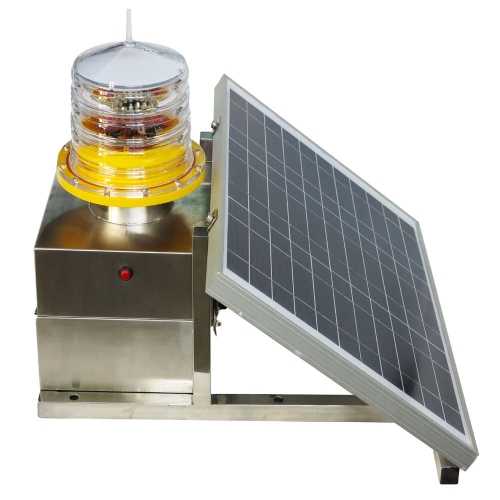 Solar Powered Medium Intensity Type B Aviation Obstruction Light
