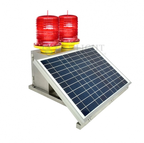 Medium Intensity Type B Double Solar Powered Aviation Obstruction Light